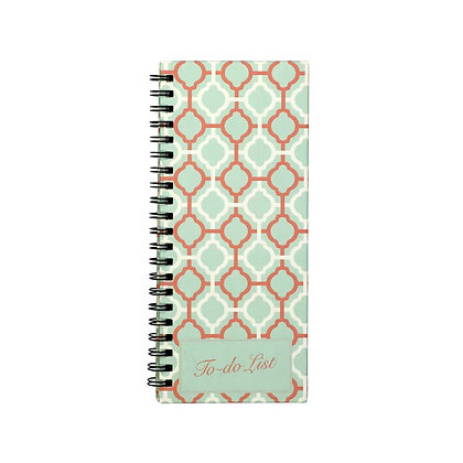 Pastel Jaali To-Do Notebook