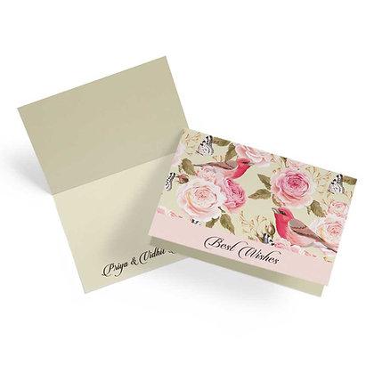 Vintage Floral Fold Cards (Set of 20)