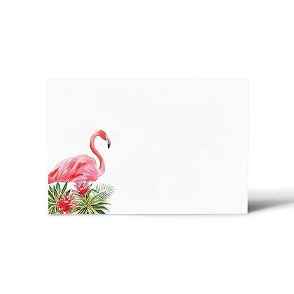 Flamingo Flat Cards (Set of 40)