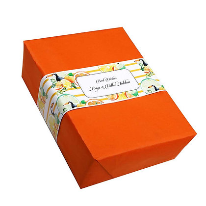 Citrus Summer Personalised Banner Bands (Set of 20)