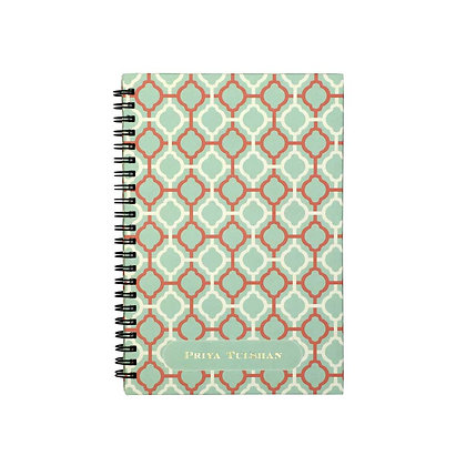 Pastel Jaali Journal Notebook