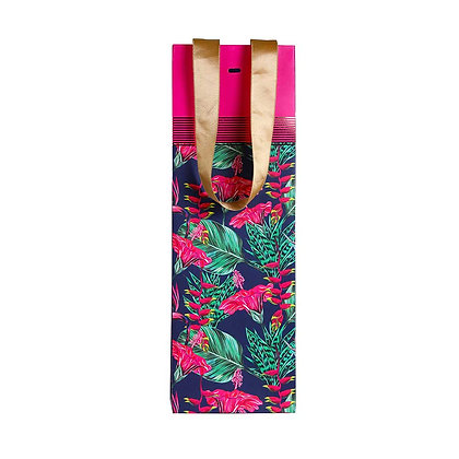 Exotic Floral Wine Bags (Set of 3)