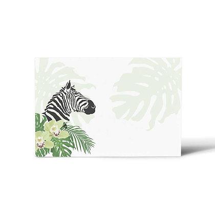 Peeping Zebras Flat Cards (Set of 40)