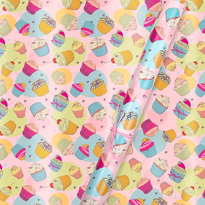 Cupcake Wrapping Paper (Set of 5)