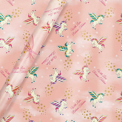 Unicorn Personalised Wrapping Paper (Set of 30)