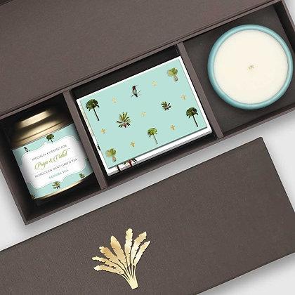Palms Turquoise Festive Box