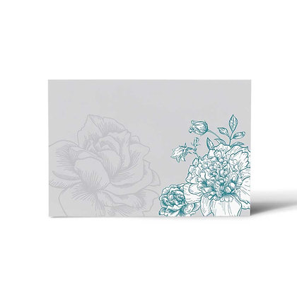 Floral Dream Flat Cards (Set of 40)