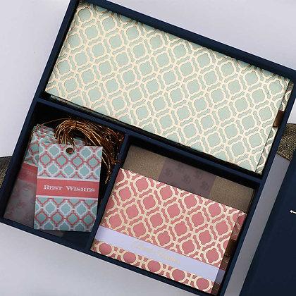 Pastel Jaali Midi Box-Assorted/Mint/Cream/Peach/Blue/Grey