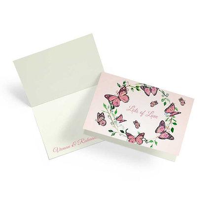 Butterfly Fold Cards (Set of 20)