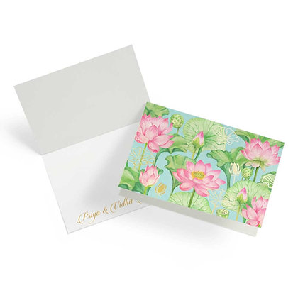 Lotus Fold Cards (Set of 20)