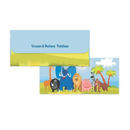 Jungle Animals Money Envelopes (Set of 20)