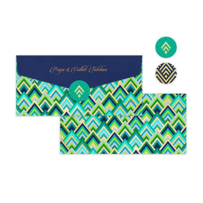 Forest Wave Money Envelopes (Set of 20)