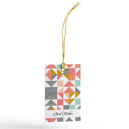Peach Geometric Gift Tags (Set of 20)