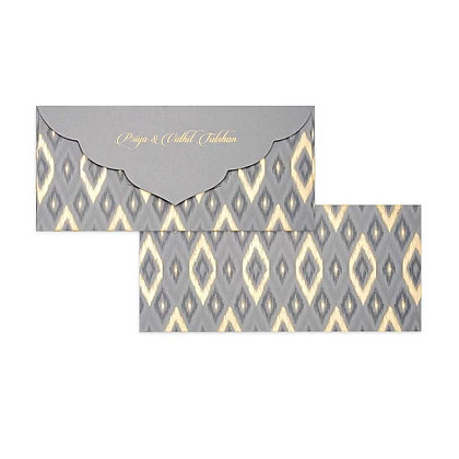 Ikat Money Envelopes (Set of 20) - Grey/Pink/Sand/Cream