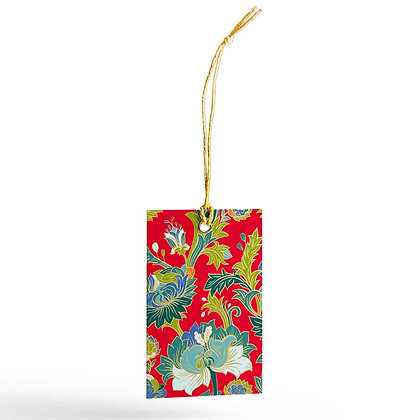 Paisley Gift Tags (Set of 20) - Red/Purple/Blue/Grey