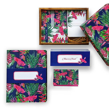 Exotic Floral Wooden Lacquer Box
