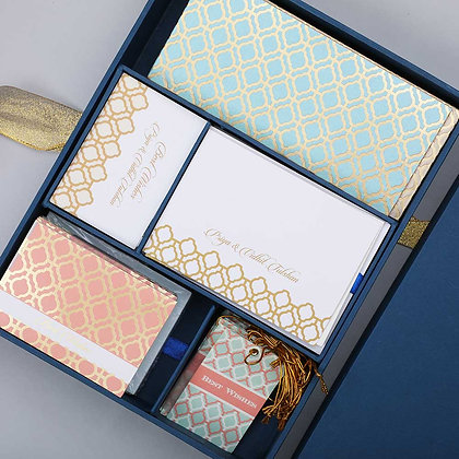 Pastel Jaali Luxury Box - Assorted/Mint/Peach/Cream/Blue/Grey