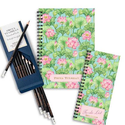 Desk Essentials Box-Lotus