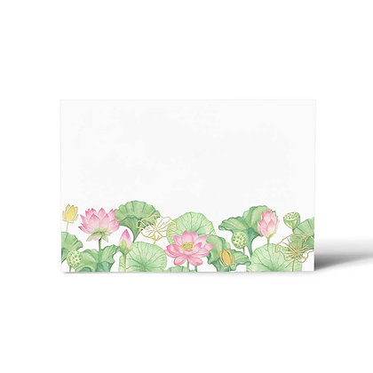 Lotus Flat Cards (Set of 40)