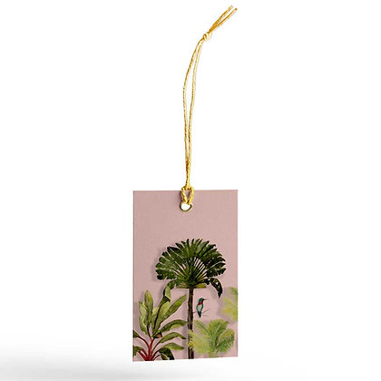 Palms Tags Peach/Turquoise (Set of 20)