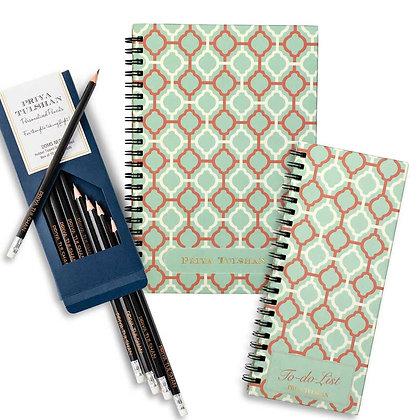 Desk Essentials Box-Pastel Jaali