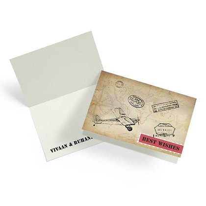 World Map Fold Cards With Envelopes (Set of 20)