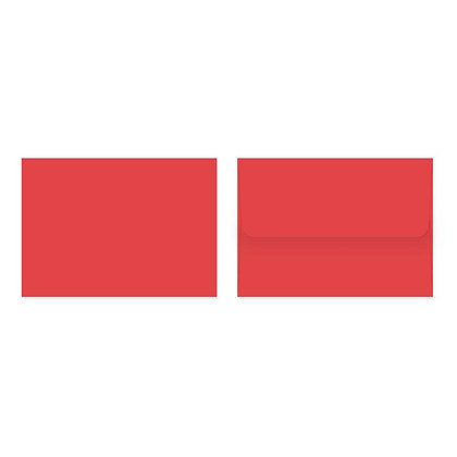 Fold Cards Envelopes (Set of 10) - Red