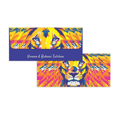 Lion Art Money Envelopes (Set of 20)