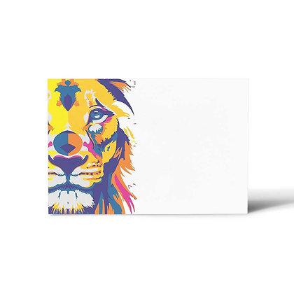 Lion Art Flat Cards (Set of 40)