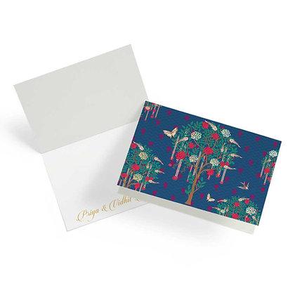 Bageecha Navy Fold Cards (Set of 20)