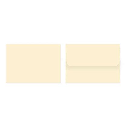 Fold Cards Envelopes (Set of 10) - Cream