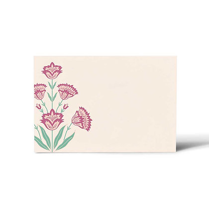 Mughal Phool Flat Cards (Set of 40)