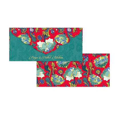 Paisley Money Envelopes (Set of 20) - Red/Purple/Navy/Grey