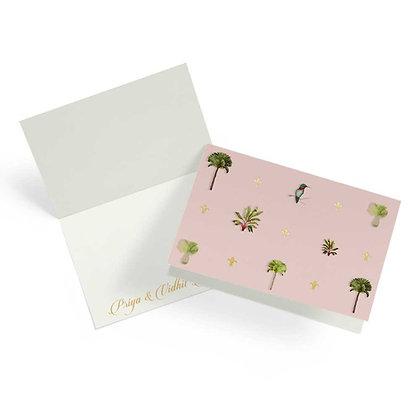 Palms Peach Fold Cards (Set of 20)