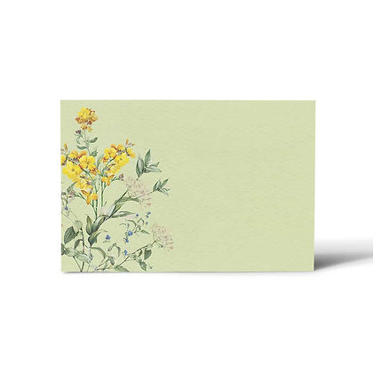 Wild Flower Flat Cards (Set of 40)