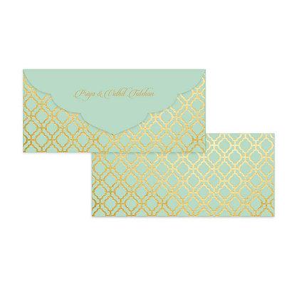 Pastel Jaali Money Envelopes (Set of 20) - Mint/Cream/Peach/Grey/Blue