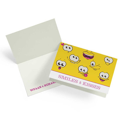 Smiley Fold Cards With Envelopes (Set of 20)