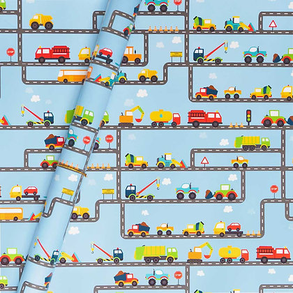 Trucks Wrapping Paper (Set of 5)
