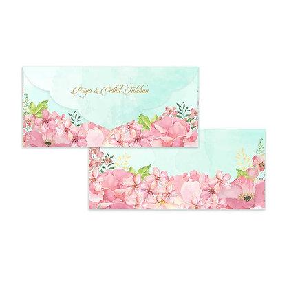 Painted Floral Money Envelopes (Set of 20) - Pink/Mint