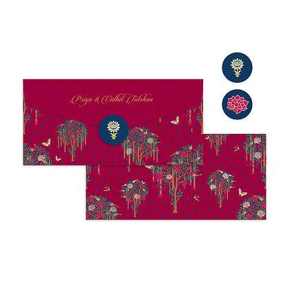 Bageecha Pink Money Envelopes (Set of 20)