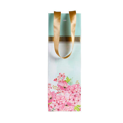 Painted Floral Wine Bags (Set of 3)
