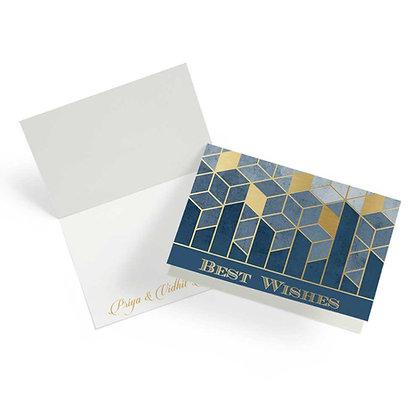 Matrix Fold Cards (Set of 20) - Navy/Black