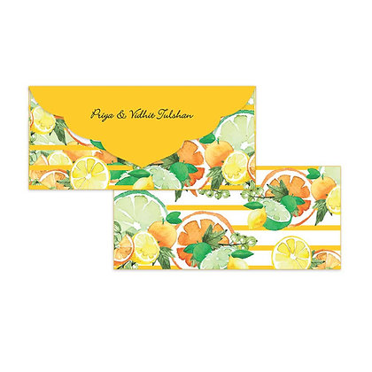 Citrus Summer Money Envelopes (Set of 20)