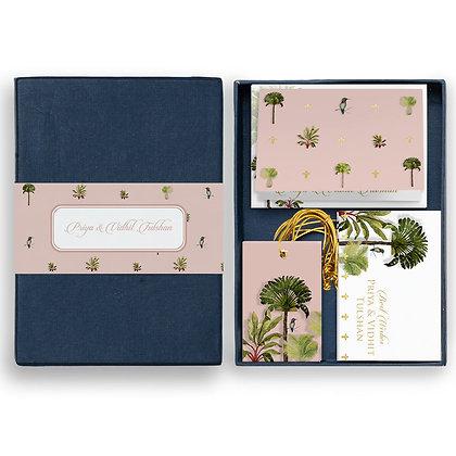 Palms Mini Box-Peach/Turquoise