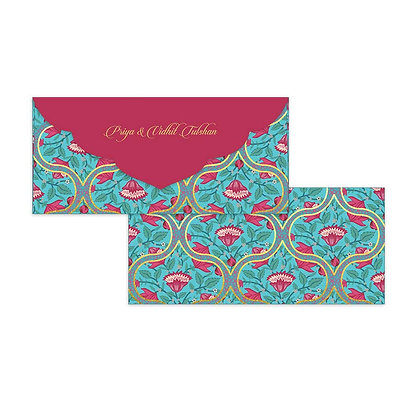 Mughal Jaali Money Envelopes (Set of 20)