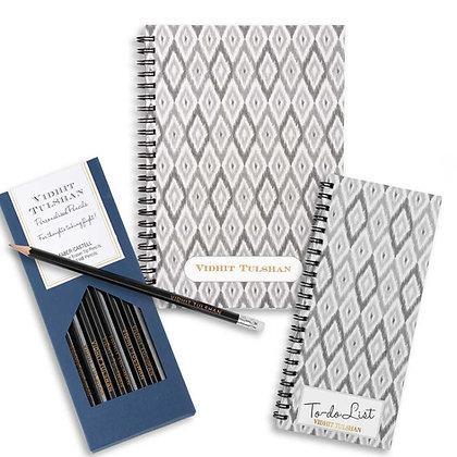Desk Essentials Box-Ikat