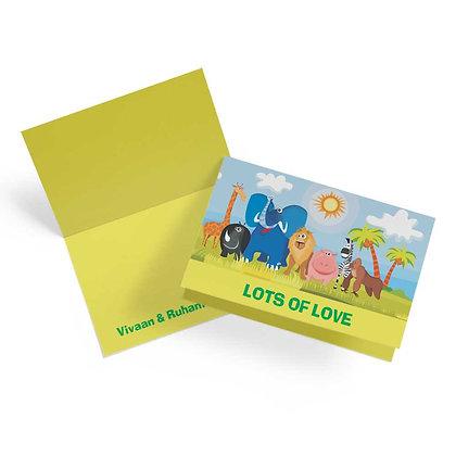 Jungle Animals Fold Cards (Set of 20)
