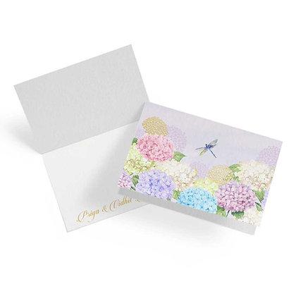 Hydrangeas Fold Cards (Set of 20)