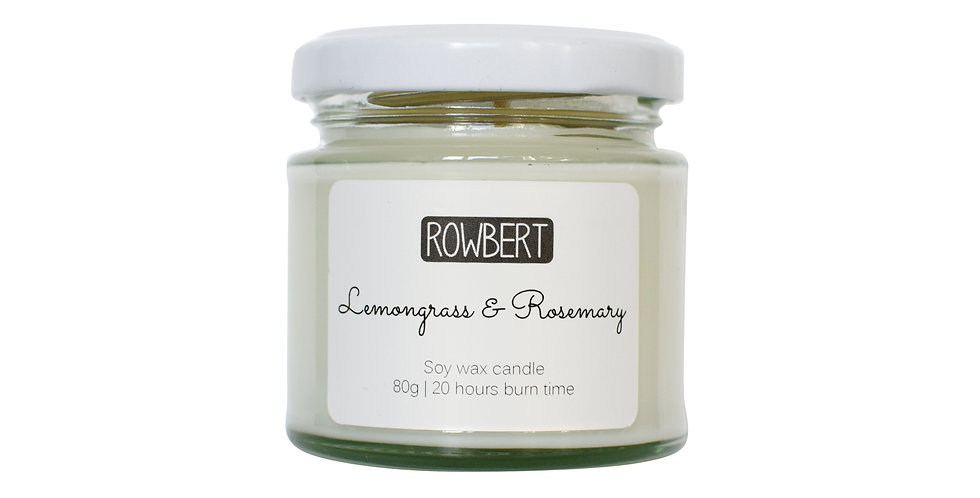 Lemongrass & Rosemary Candle (Small)