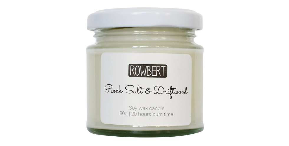 Rock Salt & Driftwood Candle (Small)
